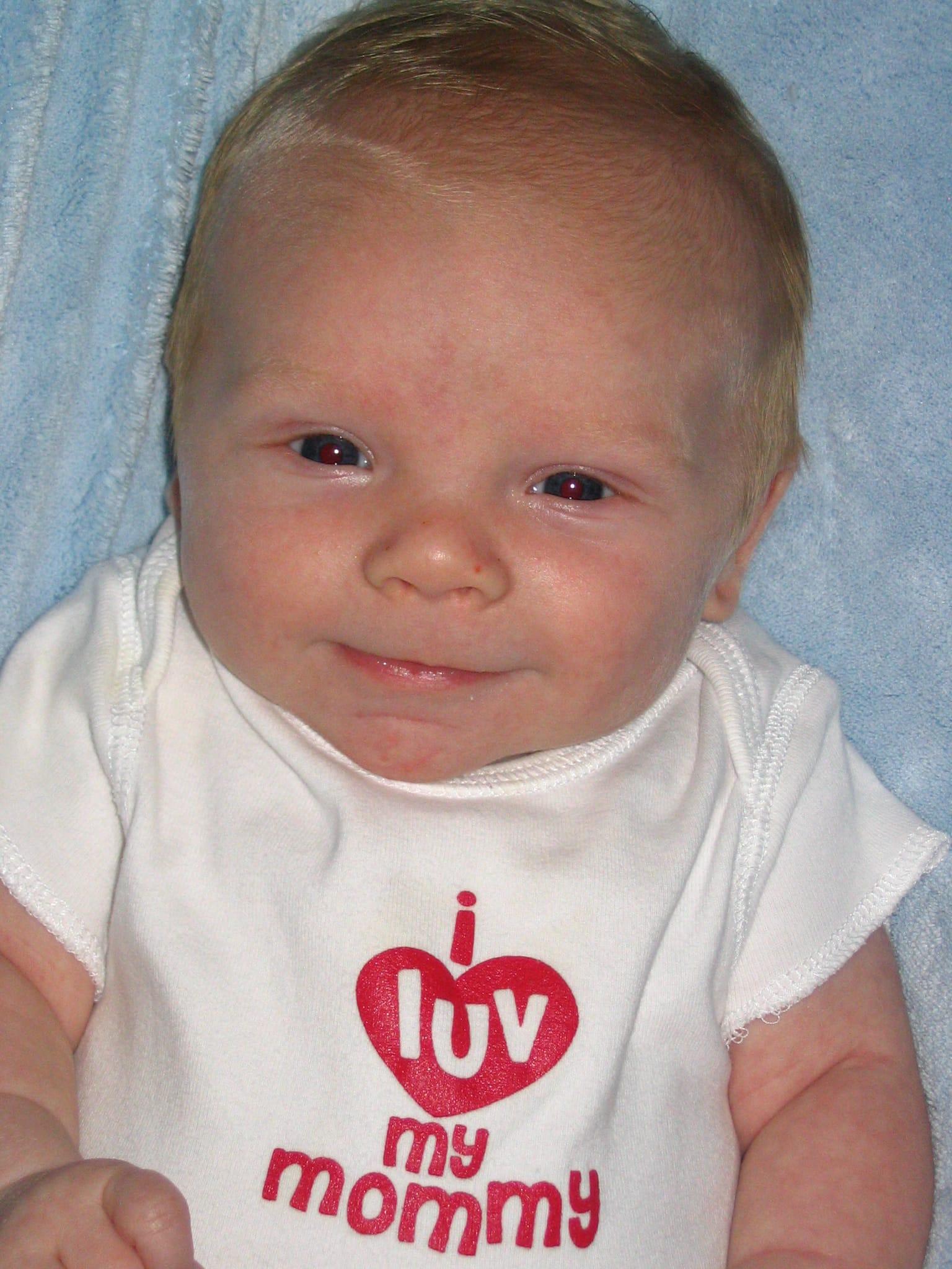 Cooper baby 9 weeks