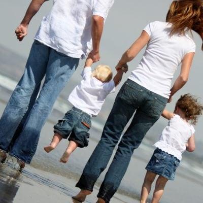 Family photos on the beach 2007