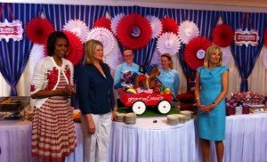 The First Lady and Martha Stewart join Operation Shower in celebrating Military Moms-to-Be