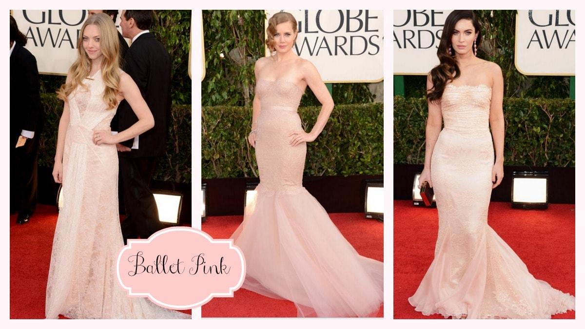 Golden Globes Ballet Pink Amy Adams Megan Fox