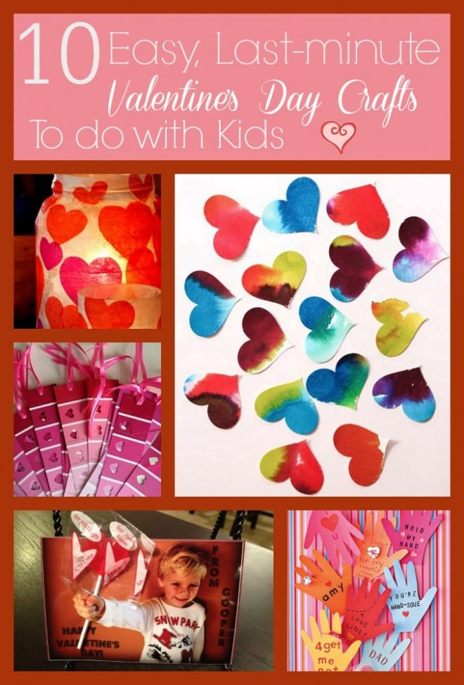 ValentinesDay 10 Easy Last Minute Crafts with Kids - ExtraordinaryMommy.com