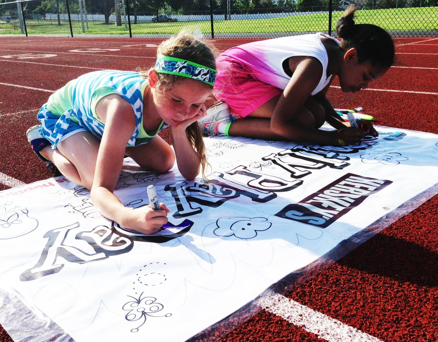 St. Louis Hershey's Family Play Day SIgn Coloring
