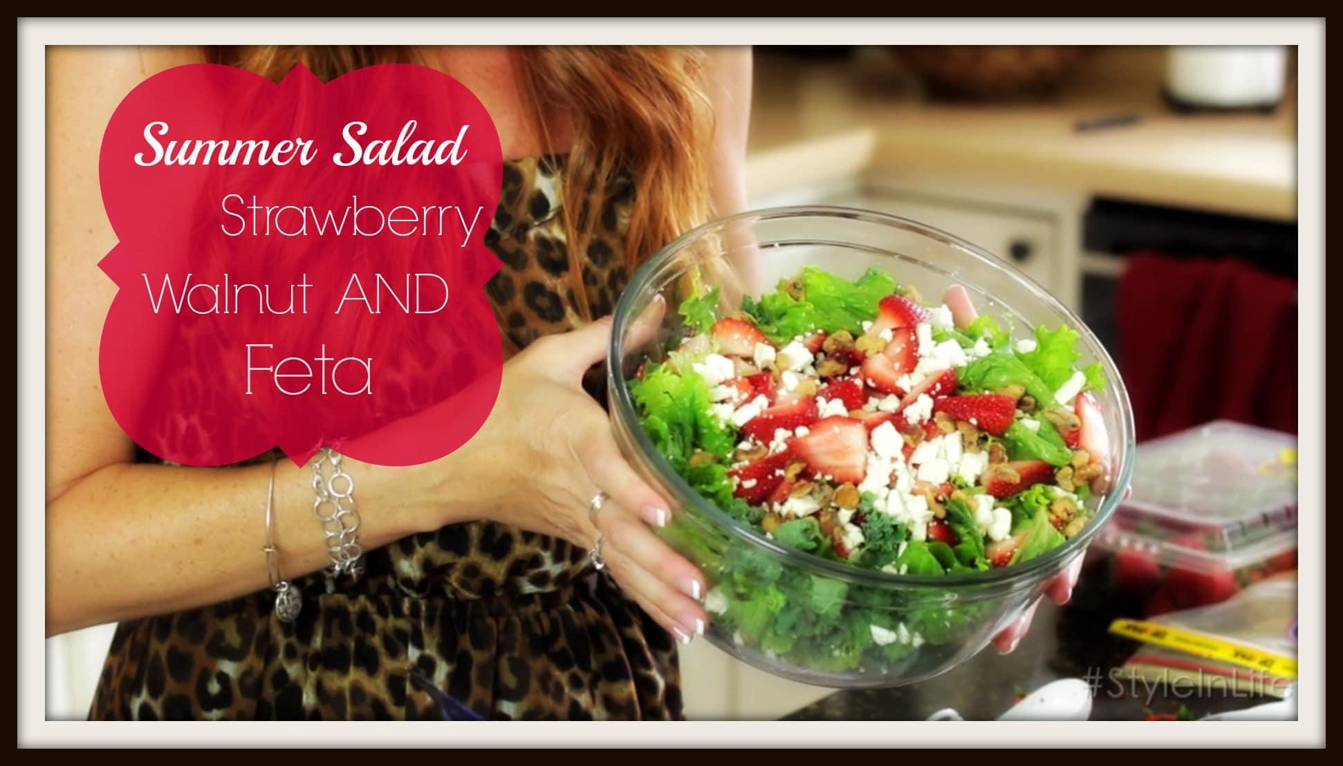 Summer Salad Recipe - Strawberry Walnut Feta Salad: Keeping Style in Your Life... ExtraordinaryMommy.com