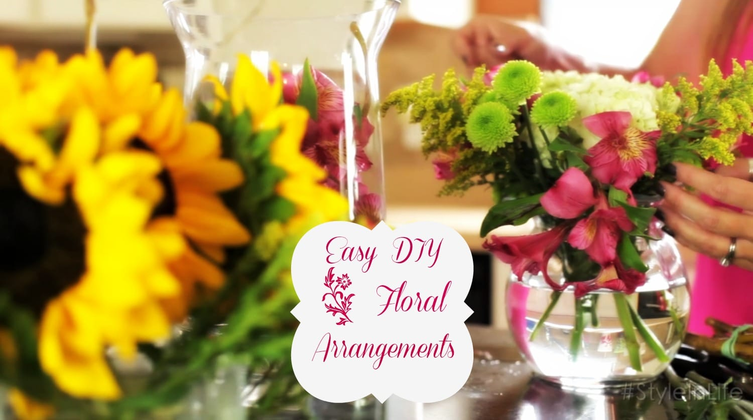DIY Easy Floral Arrangements - ExtraordinaryMommy.com