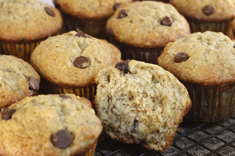 Chocolate Chip Bananafanafofana Muffins: Katie Bugbee Recipe/ExtraordinaryMommy.com