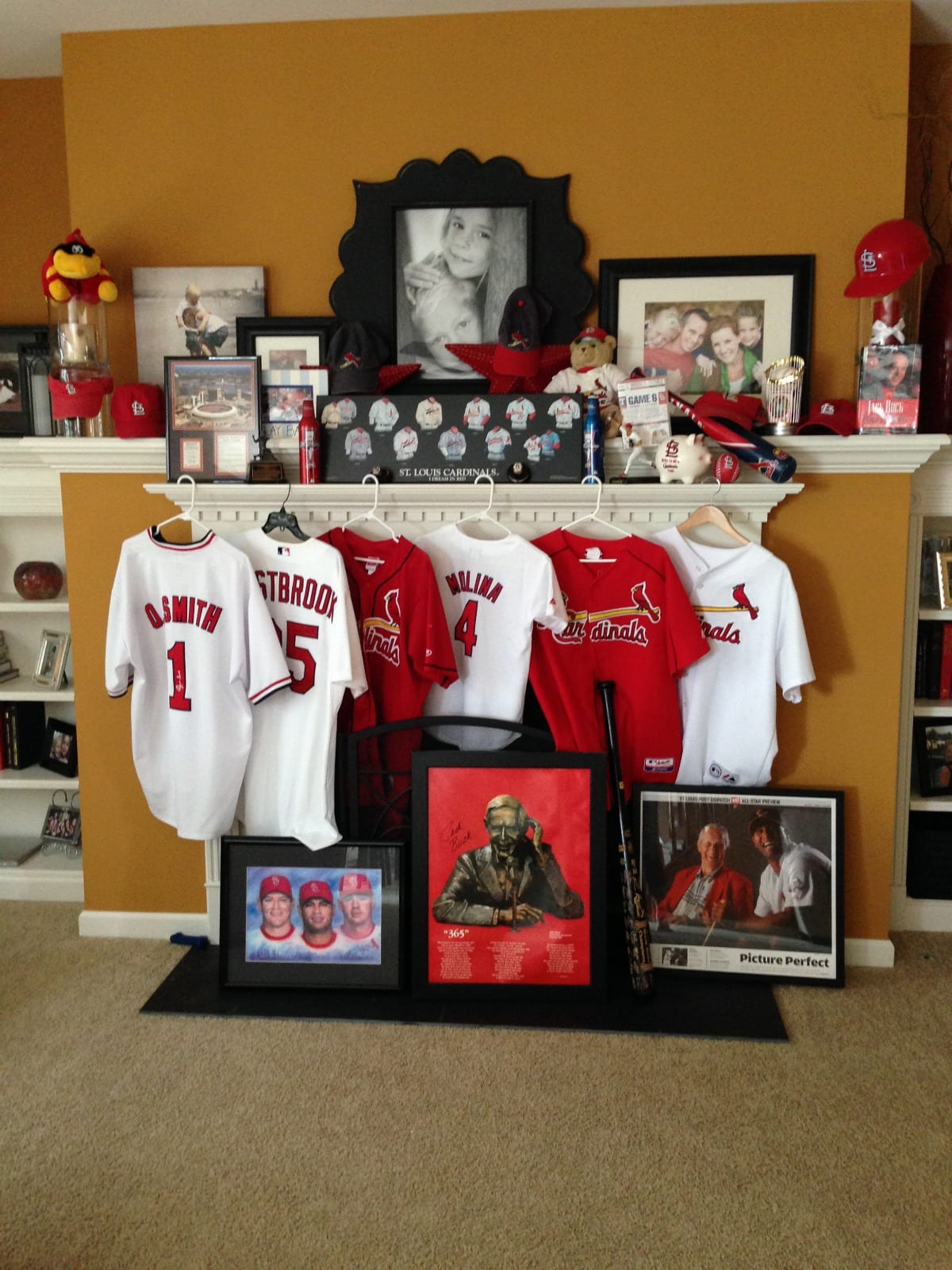 STL Cardinals Home Shrine - ExtraordinaryMommy.com