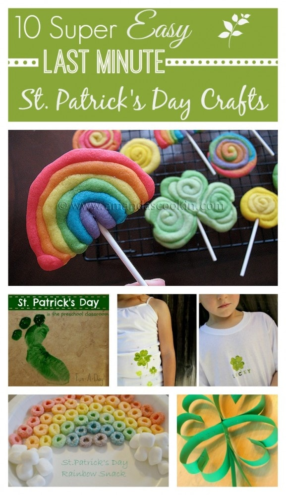 10 Easy Last Minute St Patrick S Day Crafts For Kids