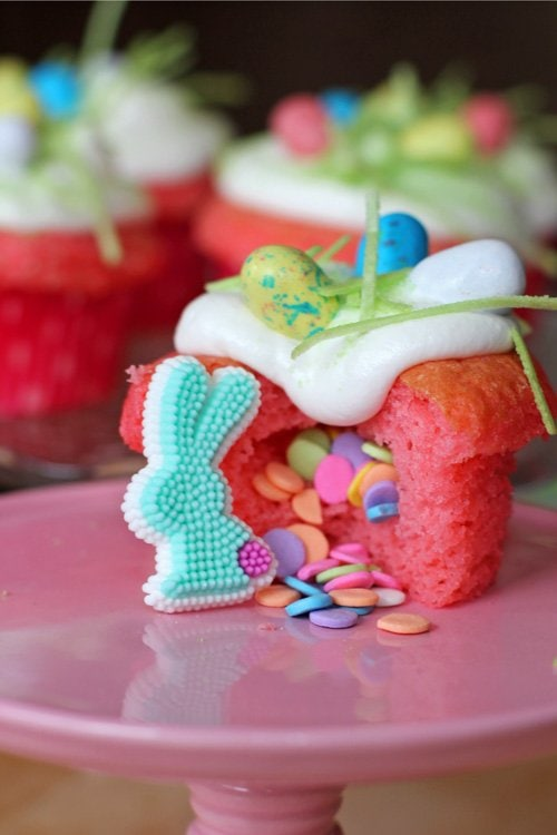 Easter Desserts - Easter Surprise Cupcakes