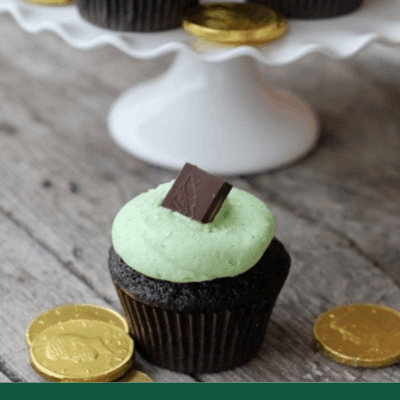St. Patrick's Day Cupcake – Chocolate and Mint