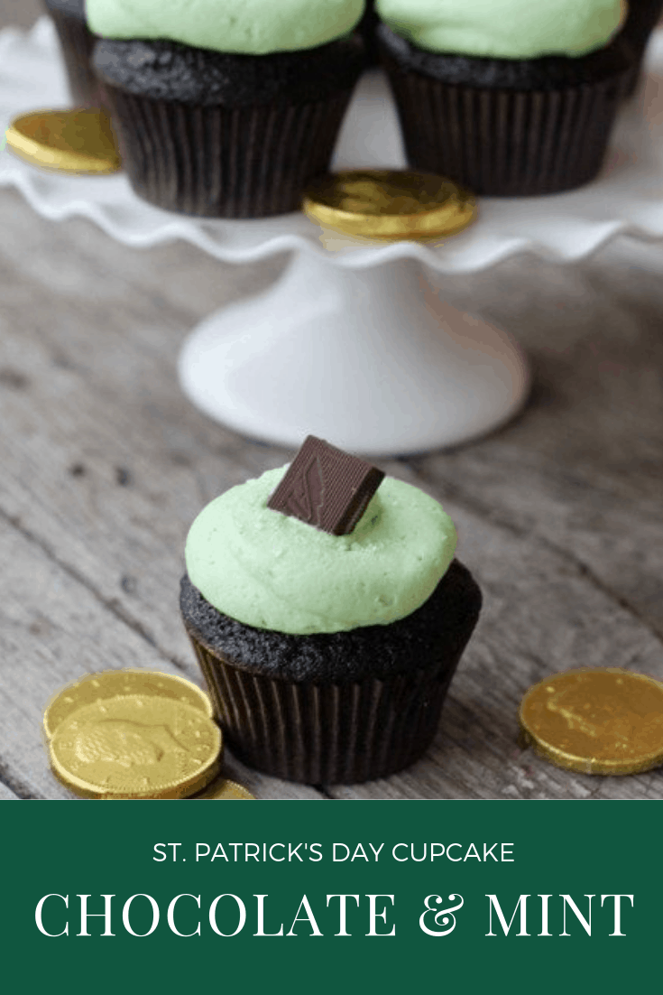St. Patrick's Day Cupcake - Chocolate and Mint