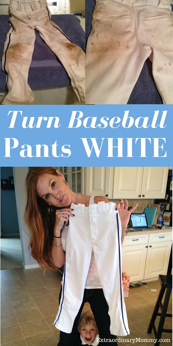 How to Clean Baseball Pants: Turn Baseball Pants White - simple solutions here