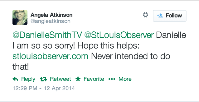 St Louis Observer Apology