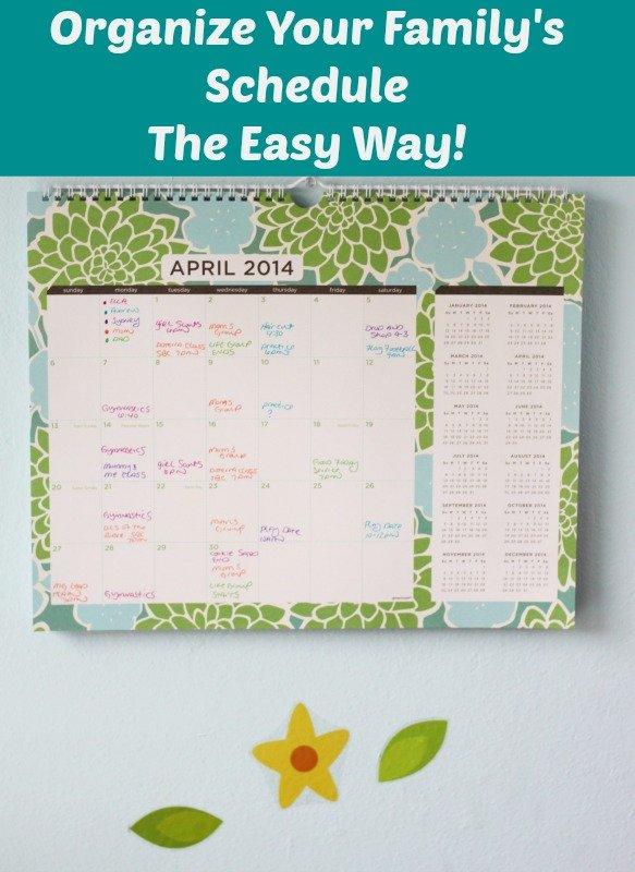 Organize Your Family's Calendar - The Easy Way!