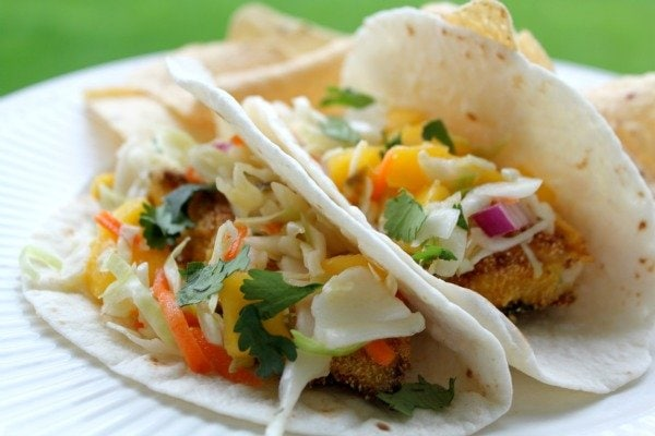 Fish Tacos with Jalapeño Mango Salsa