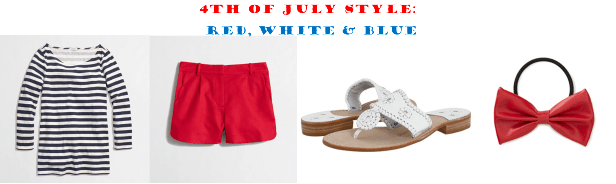 fourth of july red white and blue outfit