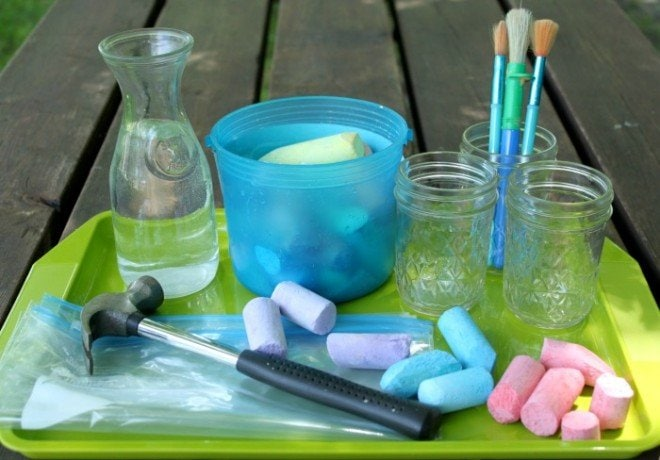 DIY Sidewalk Chalk Paint with Only Two Ingredients
