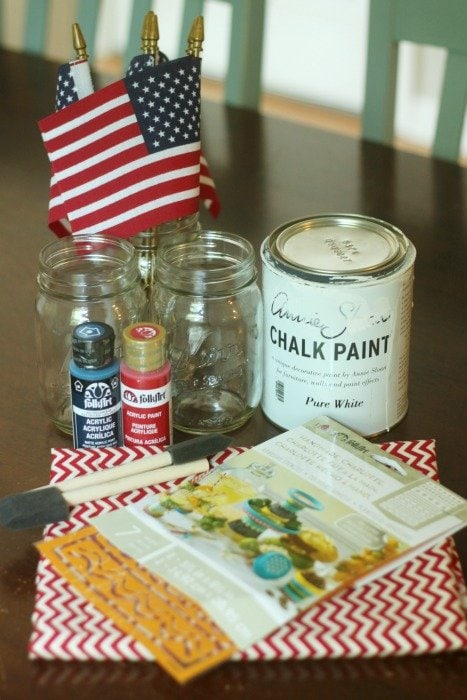 Easy Labor Day Picnic Centerpiece DIY