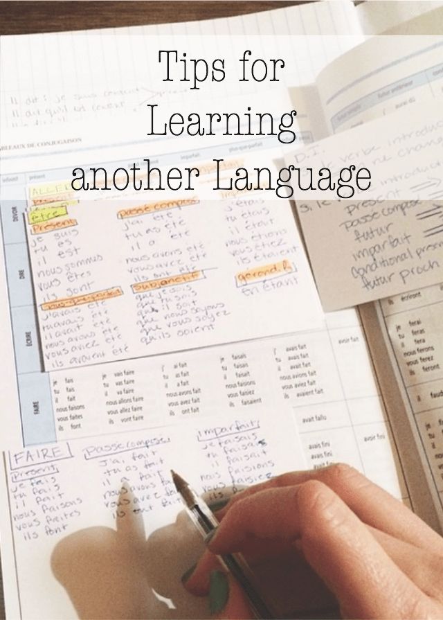 Tips for learning another language