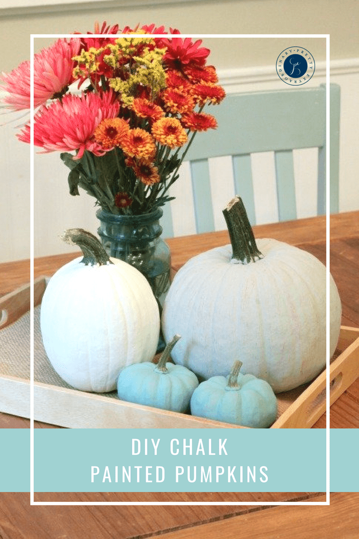 DIY Chalk Painted Pumpkins For Fall