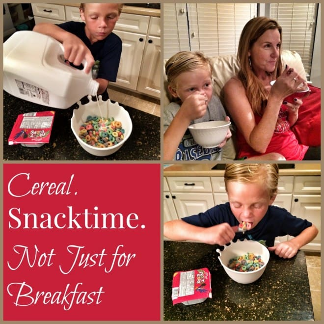 Kelloggs Cereal Snacktime - Cereal - not just for breakfast anymore - delicious snack options.