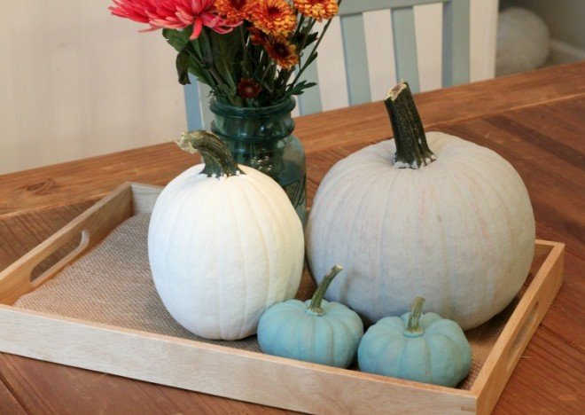 DIY Chalk Painted Pumpkins - easier than you think!