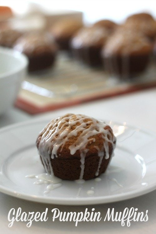 Glazed Pumpkin Muffins are the perfect treat!