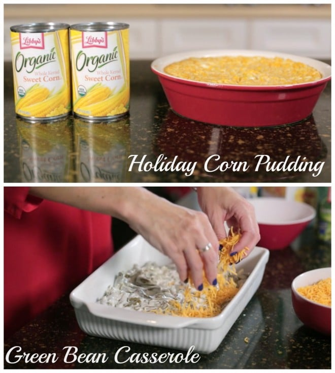 Libbys Holiday Corn Pudding and Green Bean Casserole