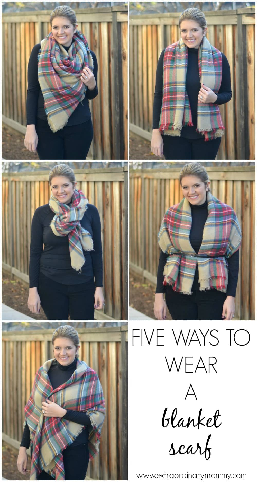 five ways to tie a blanket scarf