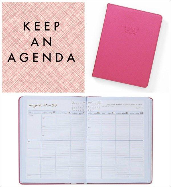 keep-an-agenda