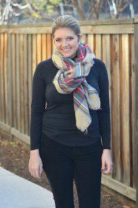 how wear blanket scarf
