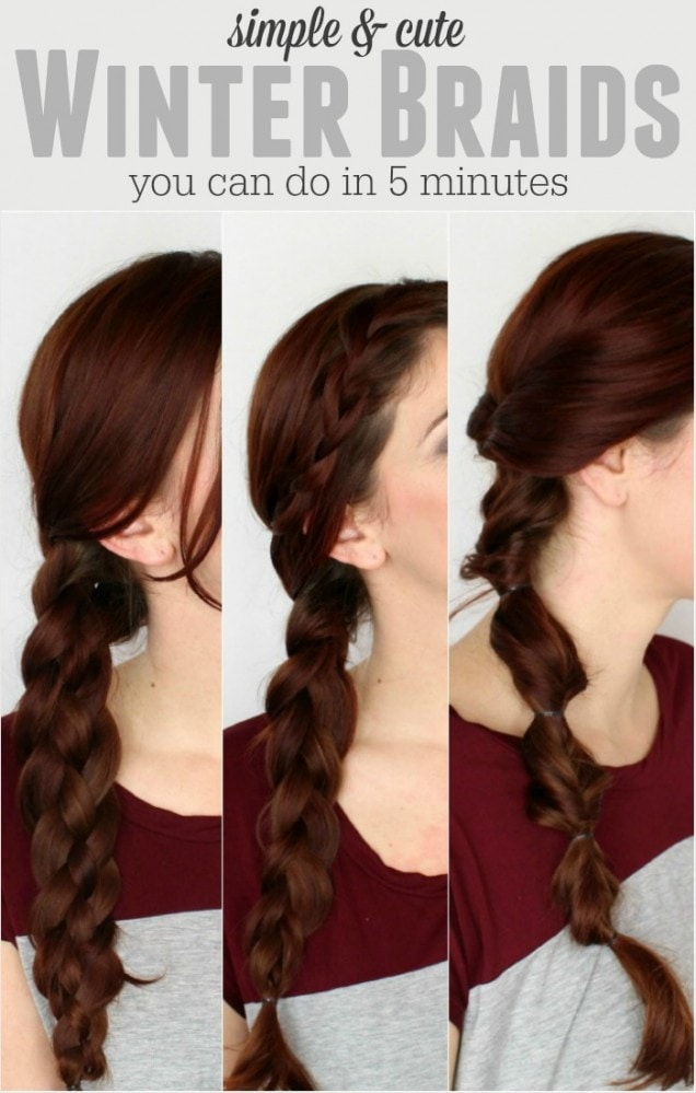 3 simple winter braids you can do by yourself pretty extraordinary simple side french braid with braided bangs solutioingenieria Gallery