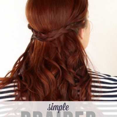 How to: Simple Braided Half-up Hairstyle