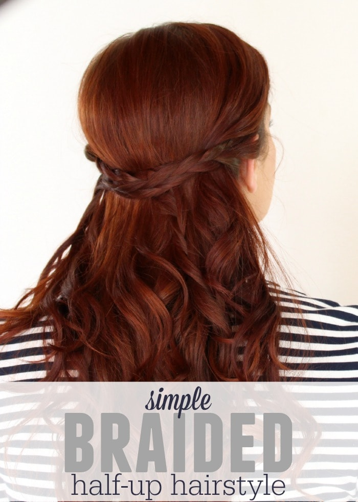 Braided half up style