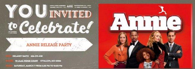 Annie Movie Invite