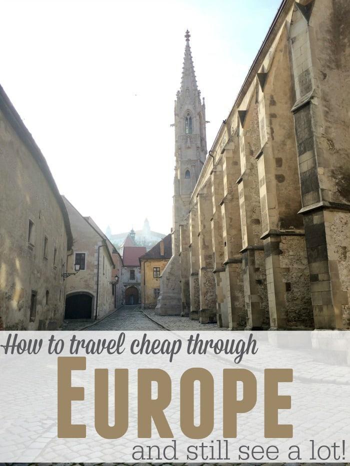 travel cheap through europe