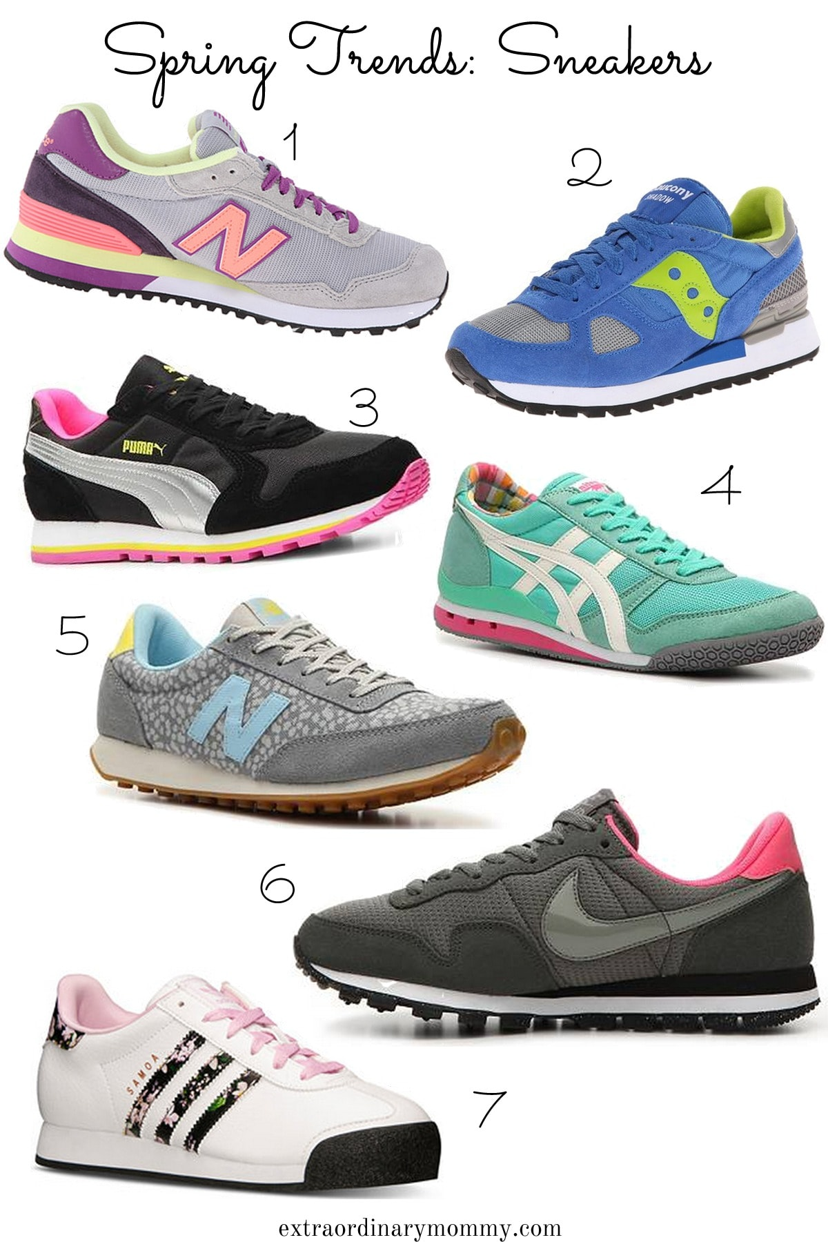 bright sneakers for Spring
