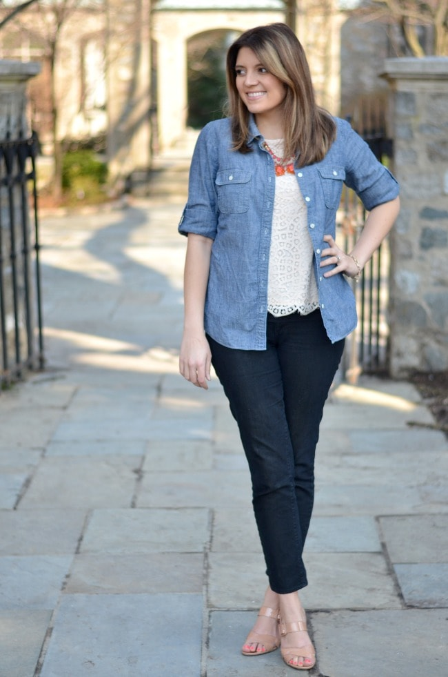 button down over a tee