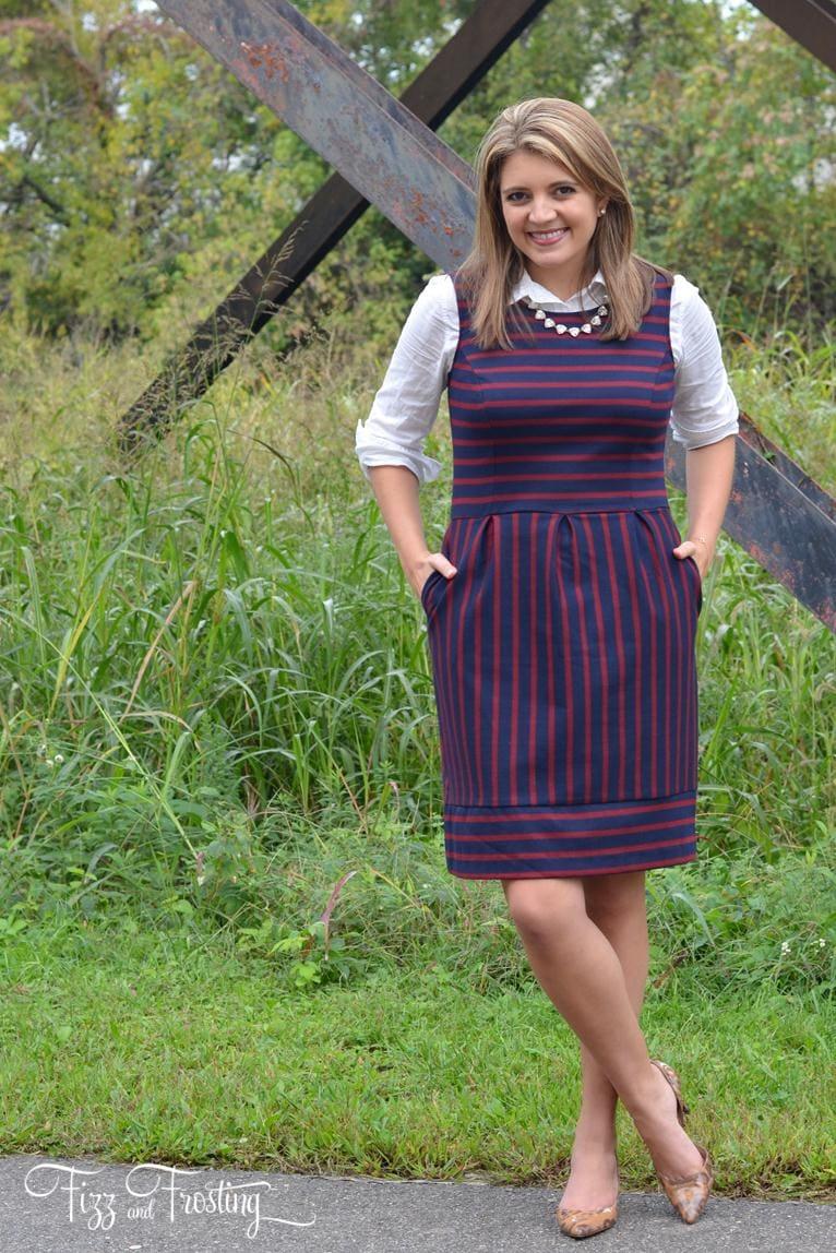 oxford under a dress