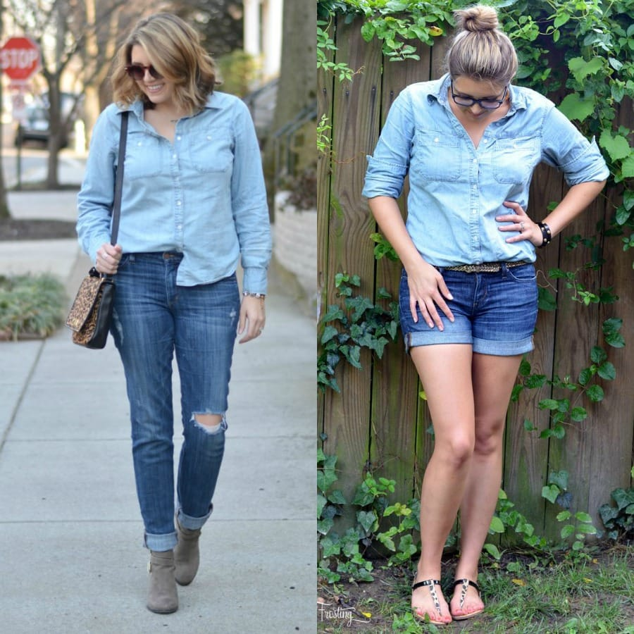 how wear denim on denim