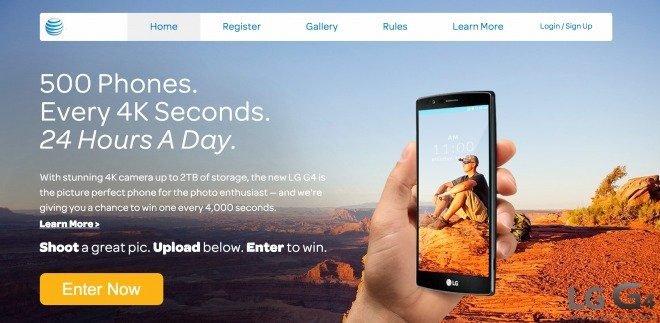 AT&T LG G4 4K Sweepstakes