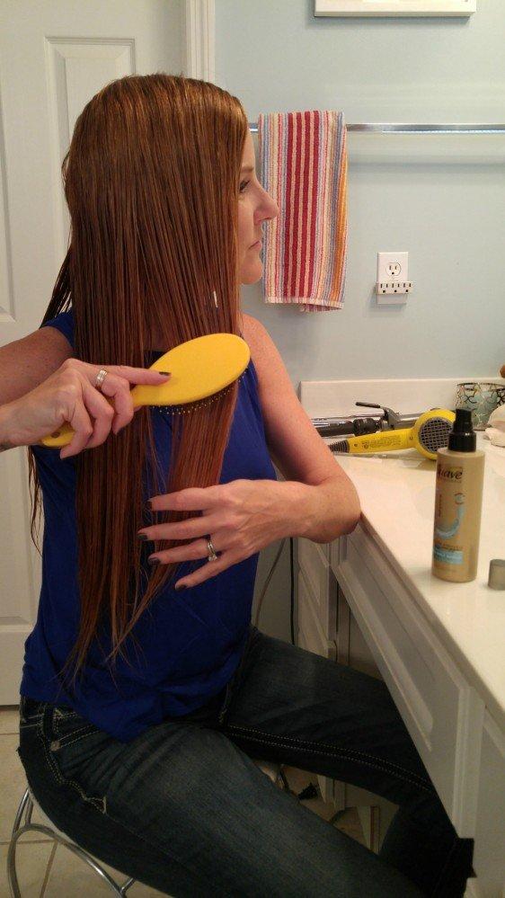 Suave Loose Summer Curls Prep 1