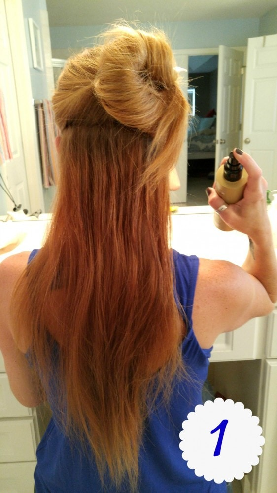 Suave Loose Summer Curls Step 1