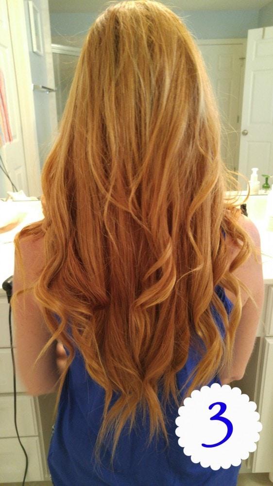 Suave Loose Summer Curls Step 3