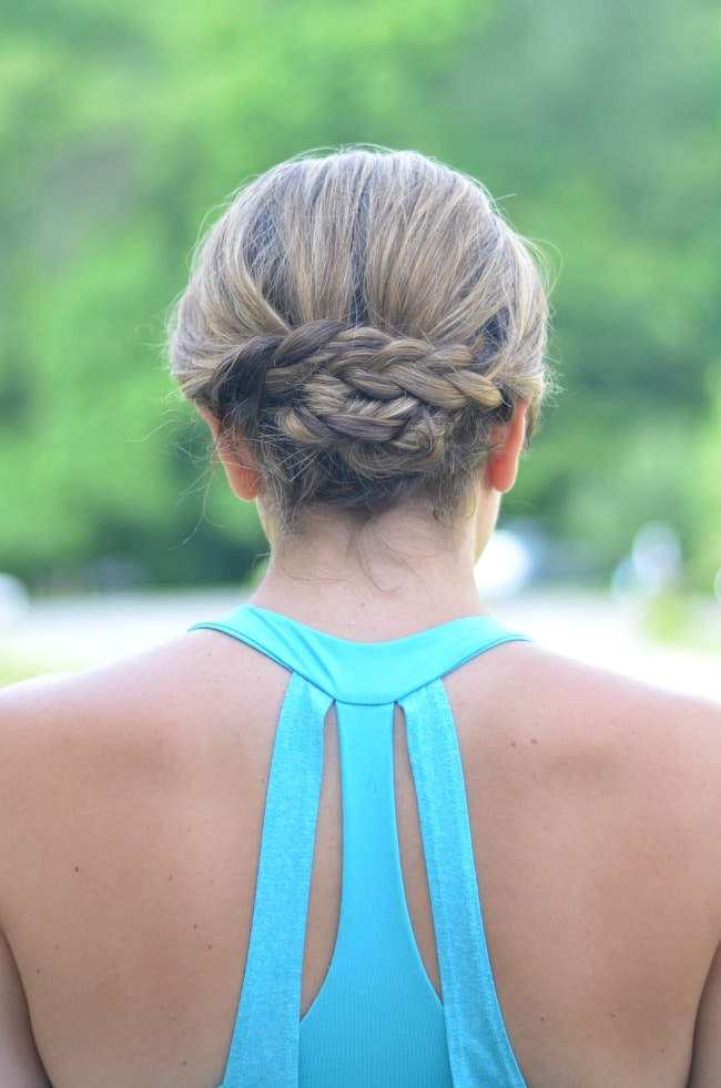summer hair ideas: fold over braided updo