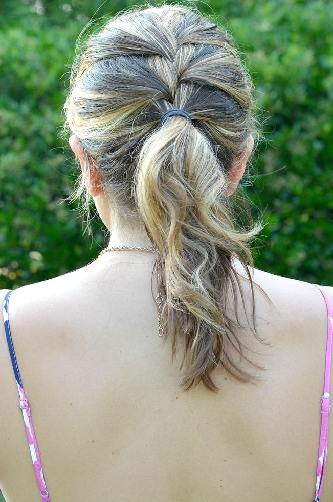 summer hair: french braid ponytail
