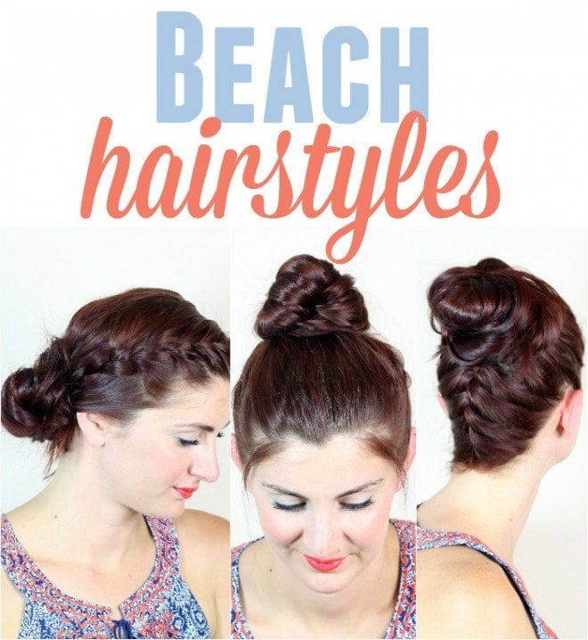 Beach Hairstyles the lazy beach bun a bikini a day 3 Beach Hairstyles