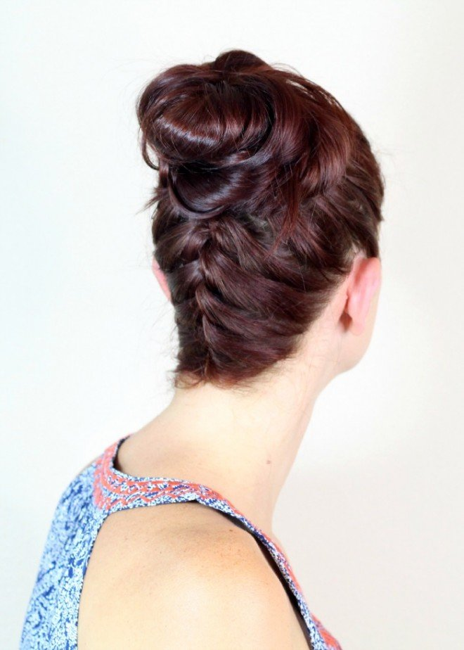 Braid top knot