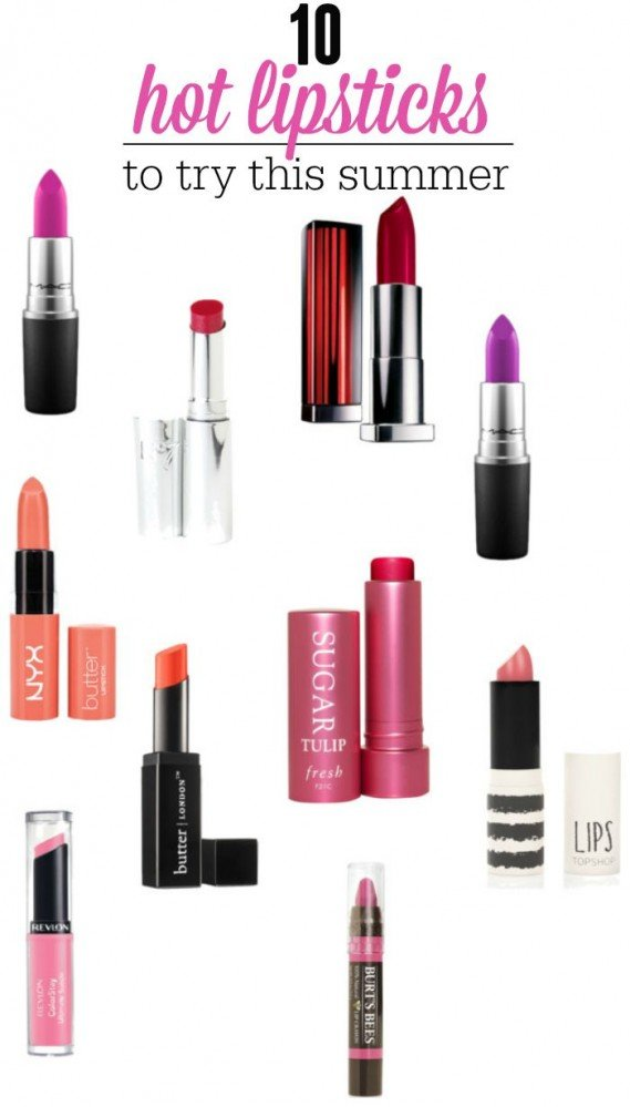 10 hot lipsticks to try for summer