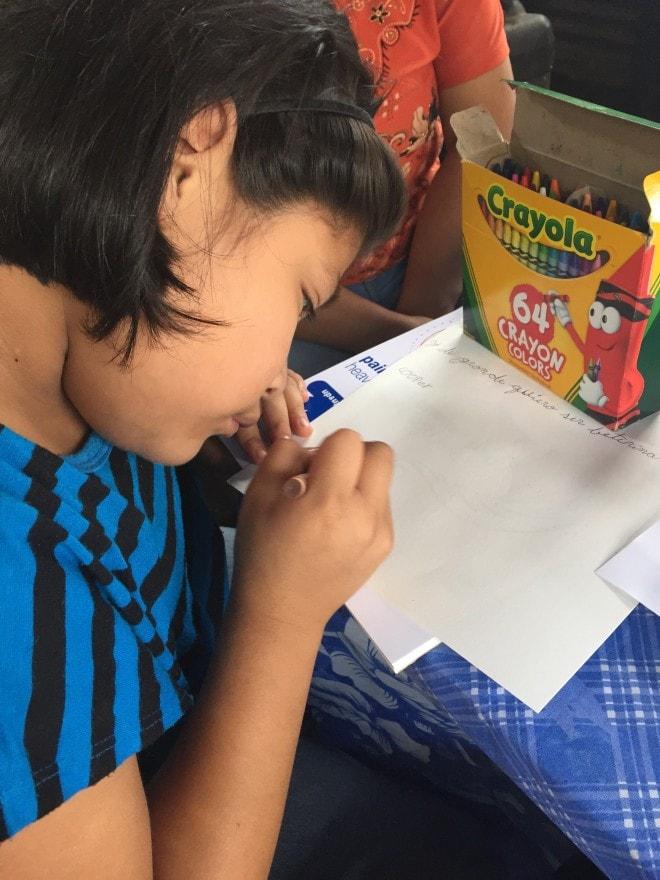Unbound Guatemala - Jacqueline Writing Letter
