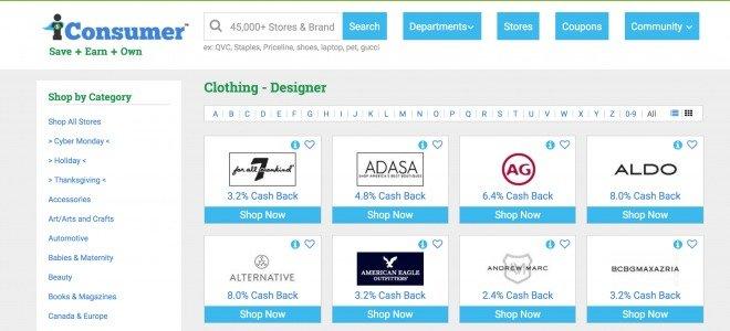iConsumer Website Brands Fashion